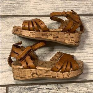 Old Navy Girls Wedge Cork Sandals Toddler 6
